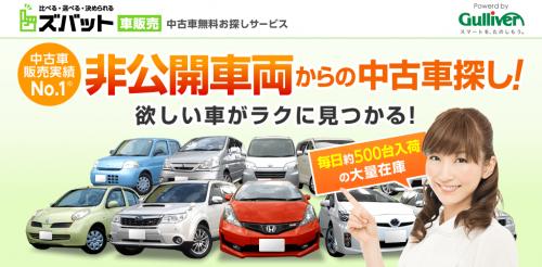 ズバット車販売の画面